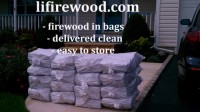 Firewood bags delivered to Saint James, NY