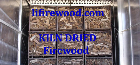 Firewood is dried in high tech kilns